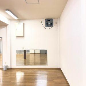 スタジオの換気 大型換気扇